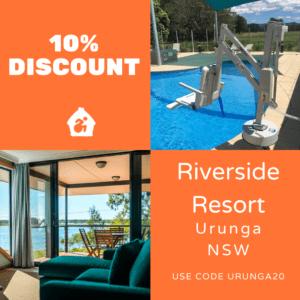 accessible accommodation riverside resort urunga