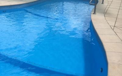 accessible pool with dolphin hoist