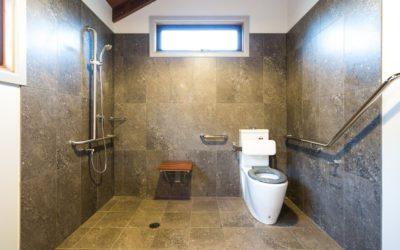 accessible glamping Safari Tents bathroom